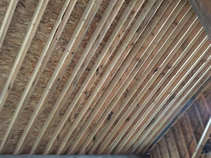 Log Cabin Renovation Ceiling