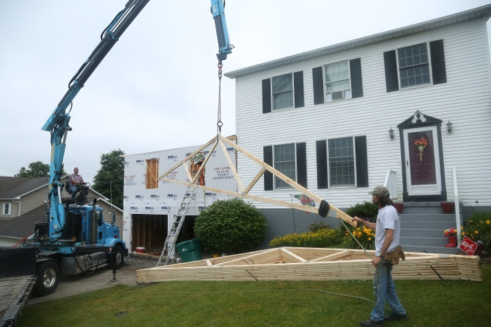 hanging trusses garage addition